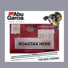 Road Tax Sticker Abu Garcia (white) By Betta Creative.