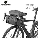 RockBros Cycling  Bicycle Roll Bag /& Handlebar Bag Combine Bag Black Gold