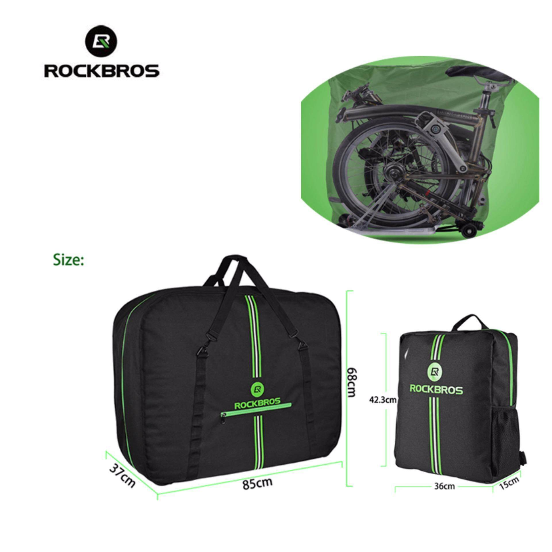 Rockbros Folding Bike Loading Package Carring Bag For Brompton As 017 Mtb Frame Triangle Pouch Waterproof 8l Jual Rb 021 Top 5 8 6 0 Phone Case Source Carrier Easliy Carry With Storage Black Green Intl