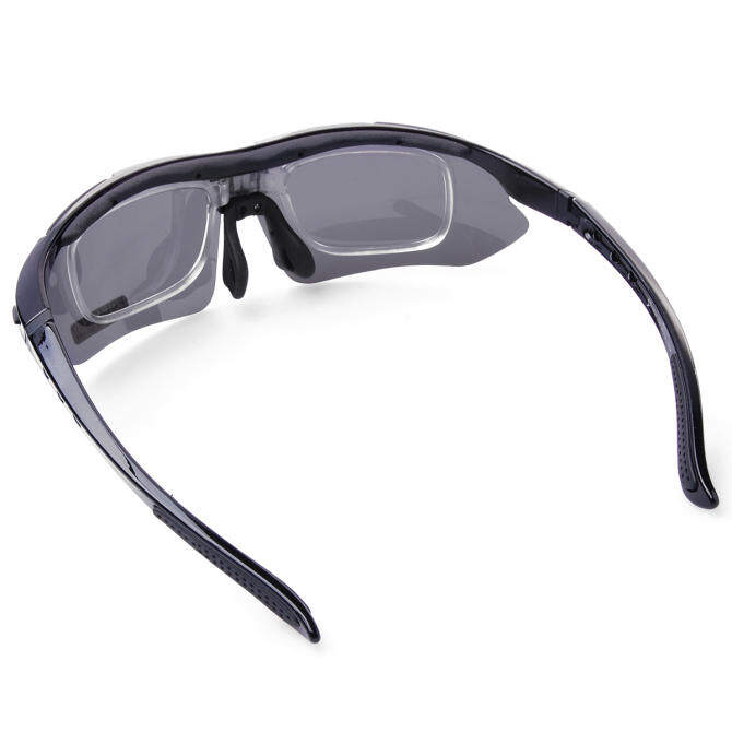 ... GreatWay RockBros Polarized Cycling Sports UV Sunglasses with 5 Pairs ofLenses CS010 Black