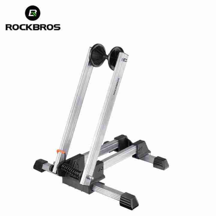 MegaStar ROCKBROS Road Bike Rack Storage Stop Stand MTB Folding Floor Parking Portable