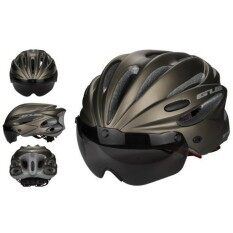 Rodeal Bike Cycling Helmet With Detachable Magnetic Goggles Visor Shield Adjustable Men Women Road Mountain Biking Bicycle Helmet Safety Protection By Rodeal.