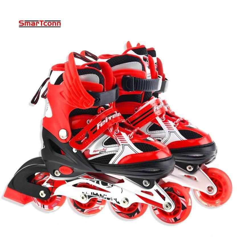 AirTop Roller Skate Shoes For Kids Inline Skates Daily Street Brush Skating  Girls Boys Adjustable Roller 709dc5613