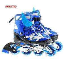 Roller Skate Shoes For Kids Inline Skates Daily Street Brush Skating Girls Boys Adjustable Roller Skates (Size:S)