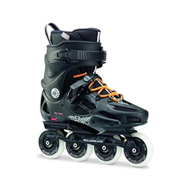 Sepatu Roda Twister 80 Twincam Ilq 7 Plus Bantalan Sepatu Roda Hitam/Urban Orange, Kami Pria 11-Intl