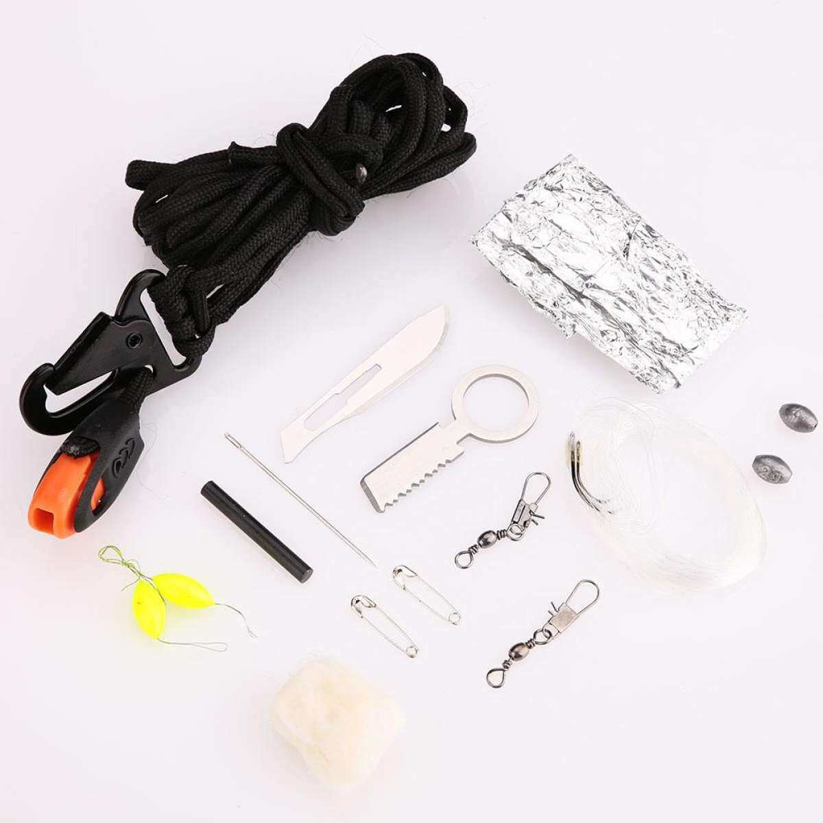 (Free Shipping for WM - Klang Valley,WM - Non Klang Valley,EM - Sabah)SCIOLTO SPORTS 14-in-1 Paracord Tool Survival Rescue Survival Emergency Kit Camping Fishing