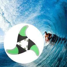 Set Of 3 Surfboard Fins Honeycomb Half Carbon Fiber Surf Board Fins G5 Surfing Fins By Tomtop.