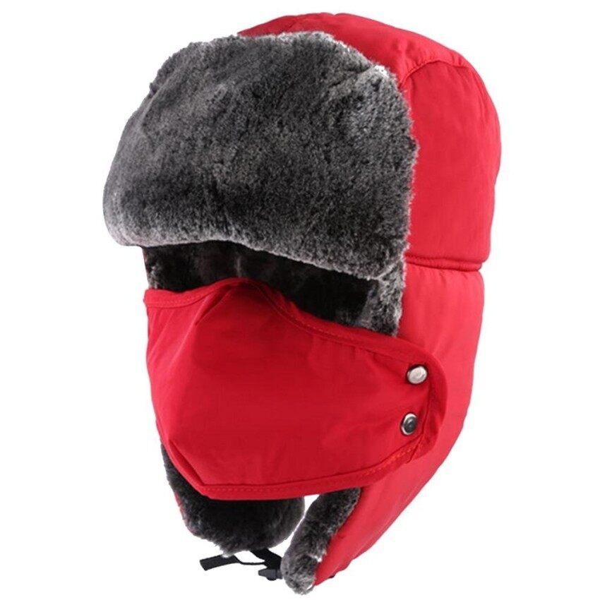 Sheng HOTT Adapula Musim Dingin Hangat Tebal Tiruan Bulu Tahan Angin Splashproof Motorcycleski Papan Salju Topi
