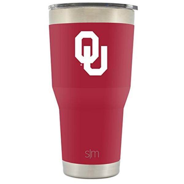 Wikipedia Moderen Universitas dari Oklahoma Kekosongan Insulated Tumbler-Ganda Walled 18 Tainless Baja Perjalanan Mug-Ou Sooners Licensed college Tailgating Wadah-Kopi Cangkir-Champion Collection-30 Oz-Internasional