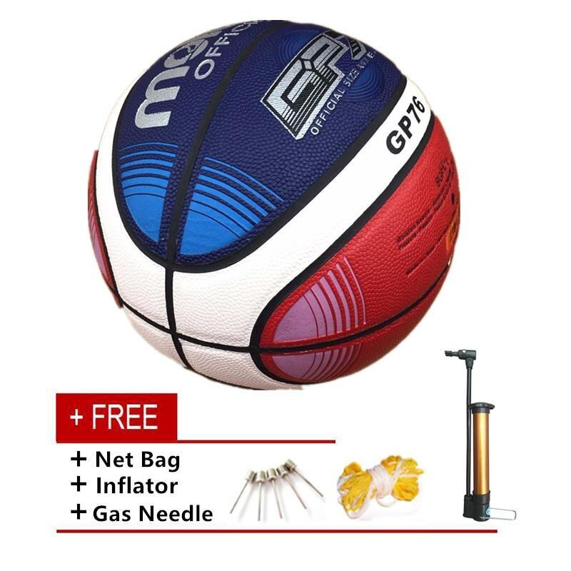 Size7 Molten Gp76 Pu Indoor Outdoor Leather Basketball Ball Training Equipment With Gift Of Ball Pin + Net Bag By Global Top Selling.