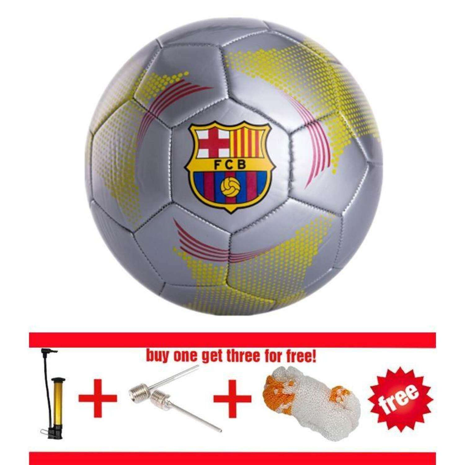 BAIGUAN WT Soccer Authentic Barca Size 5 Football Professional competition  Training football High Quality Ball Free Gas Needles and Net Bag and