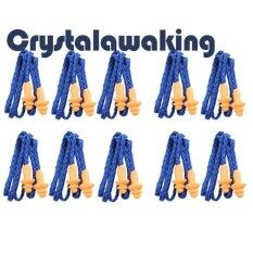 Soft Silicone Corded Ear Plugs Reusable Hearing Protection Earplugs By Crystalawaking.