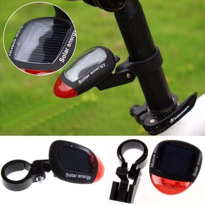 Tenaga Surya Bertenaga Ringan LED Belakang Ekor Ringan untuk Sepeda Bersepeda Lampu Keamanan TR-Internasional