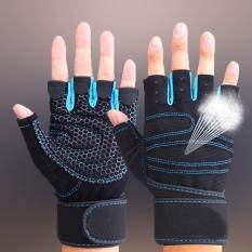 Sports Gym Gloves Half Finger Breathable Weightlifting Fitness Gloves Dumbbell Men Women Gym Gloves