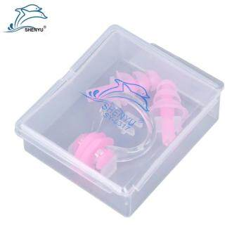 Sports Outdoors Nose Clips Shenyu Soft Silicone Swimming Nose Clips Two Earplugs Gear With Case Water