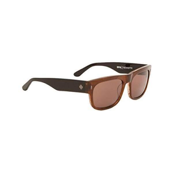 Spy Optic Unisex USA Online Lensa Bahagia Koleksi Kacamata Hitam Sepia/Hitam/Perunggu, Satu Ukuran Cocok untuk Semua-Intl