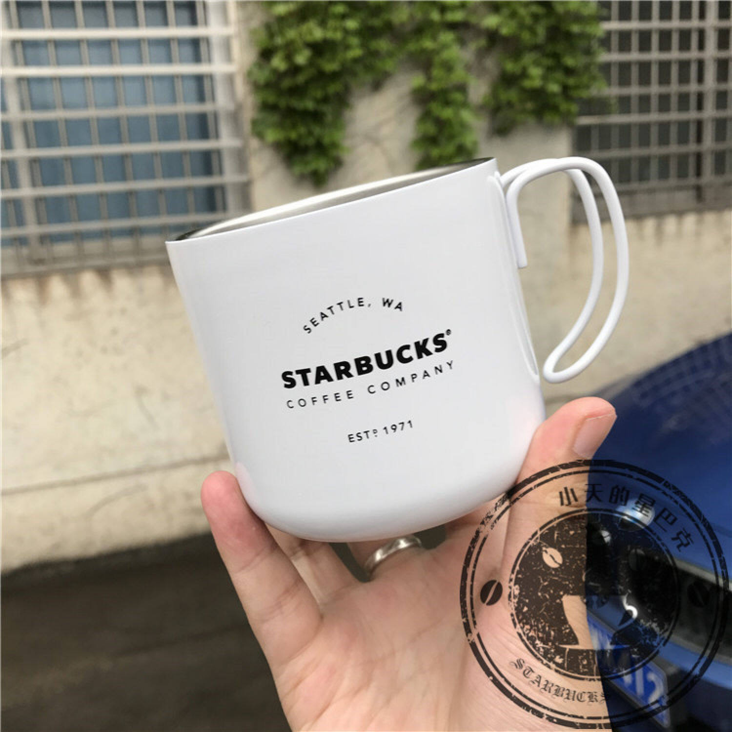 Starbucks 2017 new American Industrial Wind Star Cup Mug Mug Cup texture recover the original simplicity desktop -
