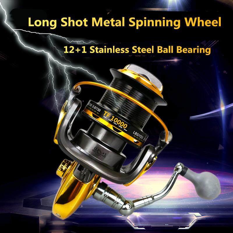 Sale Sea Fishing Reel 10000 Series 12 And 1 Ball Bearings Metal Spool Jigging Trolling Long Shot Casting Saltwater Online On China