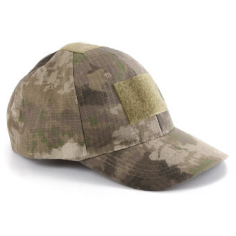 Tactical Operator Hat with Front Top Velcro for Flag Patch Ball Cap CS  Sports Ruins Camouflage