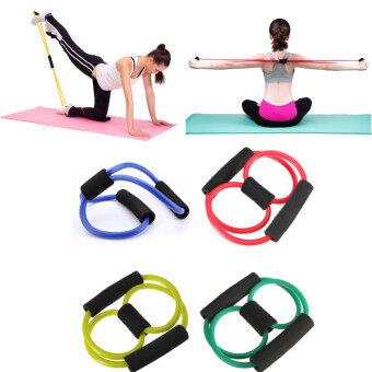 ราคาดีที่สุด HPS Yoga Resistance Band Tube Stretch Body Fitness Muscle Workout Exercise 8 Type New ล่าสุด