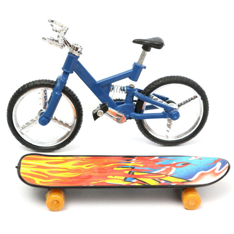 Giá bán Tech Deck Finger Bike Bicycle+ Finger Board Boy Kid Children Wheel BMX Toy Gift NEW - intl