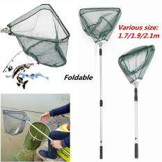 Telescopic Lightweight Folding Fishing Landing Net Extending Pole Micro Mesh Uk 1.7m By Autoleader.