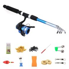 [HOT SALE]12 Accessories Telescopic Spinning Fishing Rod Kit Sea Saltwater  Freshwater Fishing Rods with Reel Combos And Lines Fishing Tool Accessories