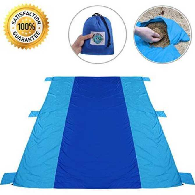 Terraunlimited Xl Beach Blanket Superior Quality Outdoor Best Sandproof Lightweight Durable Mat For Comfort In Travel Picnic