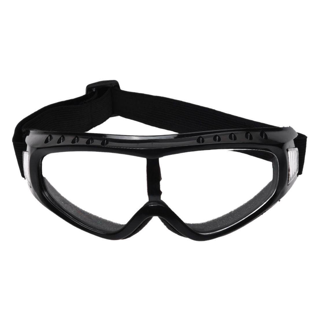 Transparent Coated Safety Skiing black-rimmed Goggles Outdoor Sport Dustproof Sunglass Eye Glasses - intl