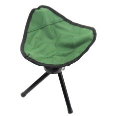 Tripod Folding Slacker Chair Portable Light weight Fishing Seat Stool For Camping Hiking Gardening Color:Green