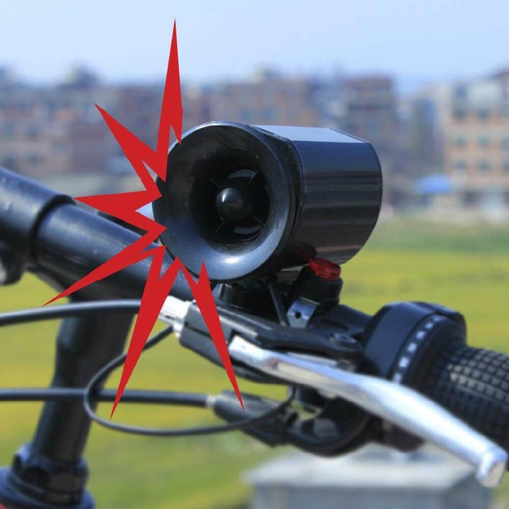 Ultra loud Speaker Black Electronic Bicycle 6Sounds Alarm Bell Bike Siren Horn - intl