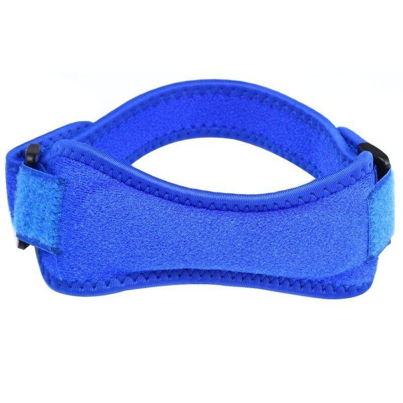 Velcro Kneepad Sport Knee Protector Leg Warmer Blue--TC