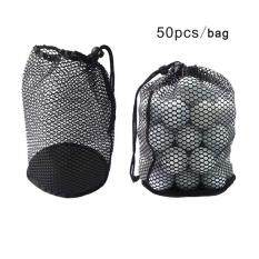 Vishine Mall-Mesh Net Bag Golf Tennis 50 Ball Carrying Holder Drawstring Pouch W/bottom->l By Benediction.
