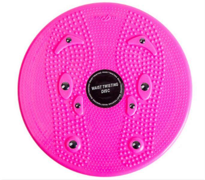 Deals For Waist Twisting Disc Magnetic Plate Sports Fitness Board Stretching Body Shaping Training Pink Intl