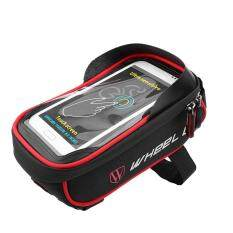 Waterproof Bicycle Front Tube Frame Bag Bike Pouch Cell Phone Accessories (black + Red) By Highfly.