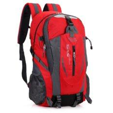 Waterproof Outdoor Backpack for Camping Hiking Traveling Climbing Running Cycling Sports Daypack Bag (Red)
