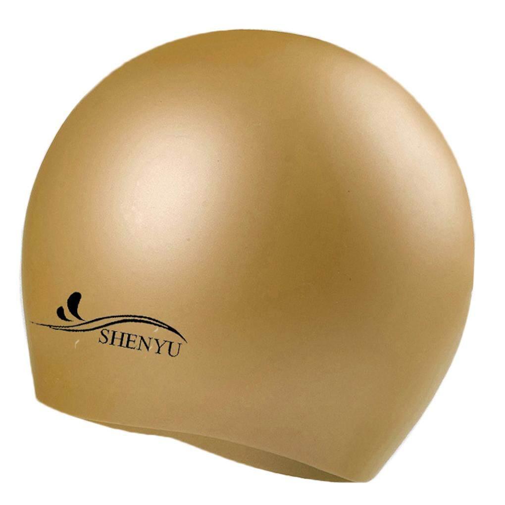 Silikon Tahan Air Topi Renang Telinga Melindungi Topi Renang Topi untuk  Anak-anak Dewasa Anak 47f32a4c3a