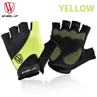 การส่งเสริม WHEEL UP Cycling Gloves Half Finger Mens Women's Summer Bicycle Gloves Guantes Ciclismo MTB Mountain Sports Bike Gloves Mittens ซื้อที่ไหน ...
