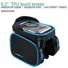 Wheel Up Outdoor Cycling Bicycle Touch Screen Mobile Phone Bag Bike Handlebar Pouch (blue) By Highfly.