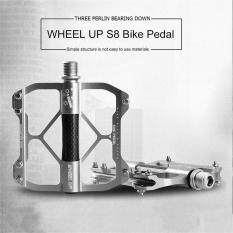 WHEEL UP S8 aluminium Alloy Pedal sepeda gunung biasa disebut elastomer anti-selip Ultralight