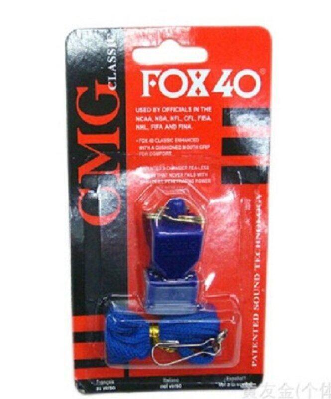 นกหวีดพลาสติก Fox 40 ซ็อกเกอร์ฟุตบอลบาสเก็ตบอลฮอกกี้และเบสบอลสปอร์ตคลาสสิคนกหวีด Survival กลางแจ้ง, สีฟ้า (สีสุ่ม) By Global Top Selling.