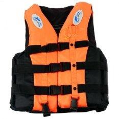Whistle+adult Life Jacket Swimming Boating Sailing Drifting Life Vest M (orange) By Fashion Cabinet.