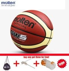 Wholesale Or Retail Brand Cheap Original Molten Gw5 Basketball Ball Pu Leather Materia Official Size5 Basketball Indoor And Outdoor Ball Training Equipment Free With Net + Bag And Needle By Ez2shop.