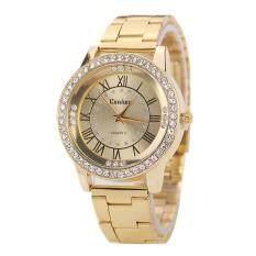 Women Crystal Rhinestone Stainless Steel Analog Quartz Wristwatch Gold Malaysia