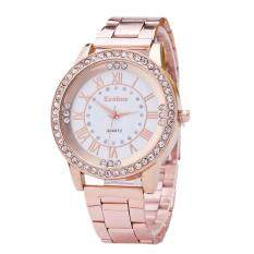 Women Crystal Rhinestone Stainless Steel Analog Quartz Wristwatch Rosegold Malaysia