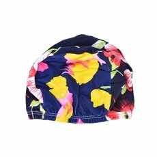 Women Floral Waterproof Spandex Stretch Swimming Cap Bathing Hat