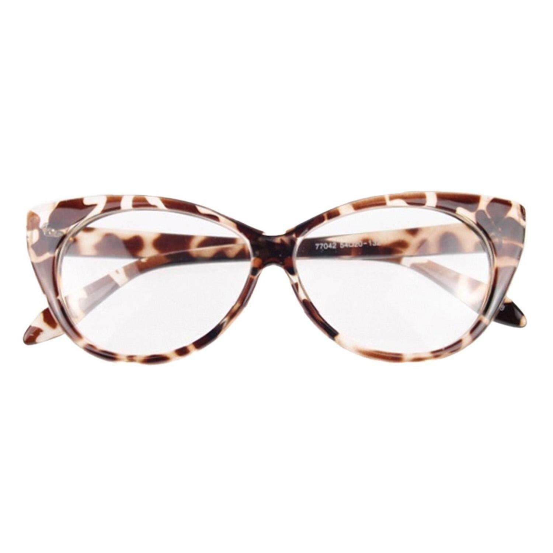 Wanita Seksi Kucing-Mata Bentuk Kacamata Mata Plastik Kacamata Leopard Warna-Internasional
