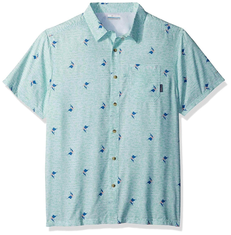 4f96e047828 (X-Large, Kelp) - Columbia Men's Super Slack Tide Camp Shirt -