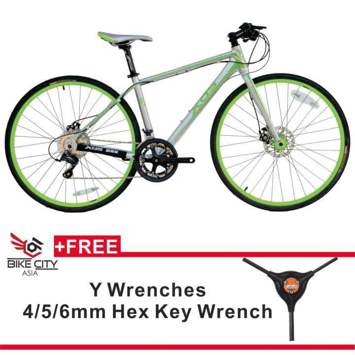 XDS Touring Bike T190 Silver/Green 700C