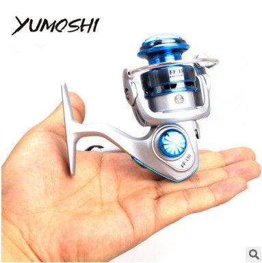 YUMOSHI FF150 MINI fishing reels,10bb,5.5:1,carretilha pesca,abu garcia,fly fishing,spinning reel,Metal rocker arm,fishing wheel - intl